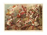 Marshal Villars at the Battle of Denain, France, 1712 Giclee Print by Jean Alaux