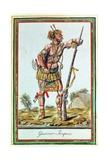 Iroquois Warrior, from 'Encyclopedie Des Voyages', Engraved by J. Laroque, 1796 Giclee Print by Jacques Grasset de Saint-Sauveur