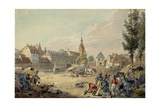 View of the Grimma Suburb, Leipzig, 1813 Giclee Print by John Augustus Atkinson