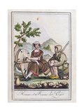A Man and Woman from the Vosges, from the 'Encyclopedie Des Voyages', 1796 Giclee Print by Jacques Grasset de Saint-Sauveur