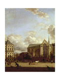 Dam Square with Nieuwe Kerk (New Church) and Koninklijk Paleis (Royal Palace) Giclee Print by Jan Van Der Heyden