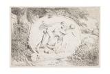 Nymph Astride a Satyr, 1763 Impression giclée par Jean-Honore Fragonard