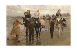 Donkey Ride at Heist, 1884 Giclee Print by Jan Frans Verhas