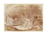 Stables of Maecenas at Tivoli Impression giclée par Jean-Honore Fragonard