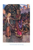 The King He Called Her Back Again, and Unto Her He Gave His Chain, 1928 Giclee Print by John Byam Liston Shaw