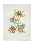 Bouquet De Fantaisie, from Nouvelle Suitte De Cahiers De Fleurs Ideales, Late 18th Century Giclee Print by Jean Baptiste Pillement