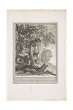 The Dragon of Many Tails, Fable XII, C. 1753-1755 Giclee Print by Jean-Baptiste Oudry
