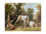 Dog and Hare Giclee Print by Jean-Baptiste Oudry