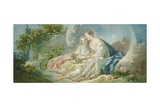 Jupiter Disguised as Diana Tries to Seduce Callisto, C.1753 Impression giclée par Jean-Honore Fragonard