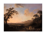 Idyllic Landscape at Dusk, 1782 Giclee Print by Jacob-Philippe Hackert