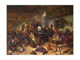 A School for Boys and Girls, C.1670 Giclee Print by Jan Havicksz. Steen