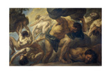 Defeat of the Titans, 1678 Giclee-trykk av Jacob Jordaens