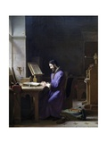 Gutenberg Inventing Printing Press, Circa 1830, by Jean Antoine Laurent (1773-1832) Giclee Print by Jean Antoine Laurent