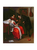 The Doctor's Visit, C.1663 Giclee Print by Jan Havicksz. Steen