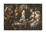 The King Drinks a Twelfth Night Feast, C.1645 Giclee Print by Jacob Jordaens