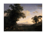 Arcadian Landscape, 1829 Giclee Print by Jacob-Philippe Hackert