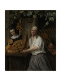 The Baker Arent Oostwaard and His Wife Catherina Keizerswaard, 1658 Giclee Print by Jan Havicksz. Steen