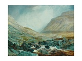 Ingleborough from under White Scar, Yorkshire Limestone Strata, 1868 Giclee Print by John Atkinson Grimshaw