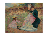 Madame Guillaumin and Her Daughters; Madame Guillaumin Et Ses Filles, C.1892 Giclee Print by Jean Baptiste Armand Guillaumin