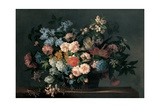 Still Life with Basket of Flowers, C.1690 Giclee Print by Jean-Baptiste Monnoyer