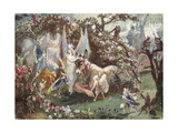 Titania and Bottom from William Shakespeare's 'A Midsummer-Night's Dream' Giclee Print by John Anster Fitzgerald