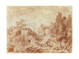 Ancient Theatre, Hadrian's Villa, Near Tivoli Giclee Print by Jean-Honore Fragonard