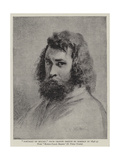 Portrait of Millet, from Crayon Sketch by Himself in 1846-47 Giclee Print by Jean Francois I Millet