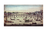 Westminster Bridge, Looking Westward, 1747 Wydruk giclee autor John Boydell