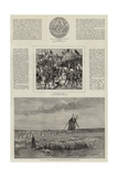 An Artist's Visit to the Battlefields of Crecy and Agincourt Giclee Print by John Absolon