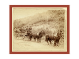 Wells Fargo Express Co. Deadwood Treasure Wagon and Guards with $250 Giclee Print by John C. H. Grabill