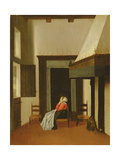 Interior with Seated Woman, C.1660 Giclée-Druck von Jacobus Vrel
