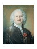 Portrait of John Towneley, 1749 Giclee Print by Jean-Baptiste Perronneau