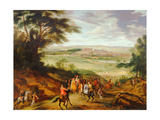 Louis XIV with Versailles in the Distance Giclee Print by Jean-Baptiste Martin