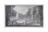 Riverside Basin, Lord Burlington's Chiswick Villa (Pen and Ink with Wash on Paper) Giclee Print by Jacques Rigaud