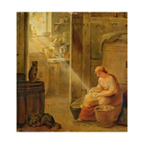 Interior (The Potato) Giclee Print by Johann Heinrich Wilhelm Tischbein