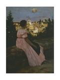 The Red Dress or Look on Castelnau-Le Lez, 1864 Giclee Print by Jean-Frederic Bazille