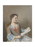 La Liseuse Marianne Lavergne Giclee Print by Jean-Etienne Liotard