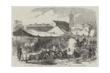 The War, Encampment of French Troops on the Piazza Savona, at Alessandria Giclee Print by Jean Adolphe Beauce