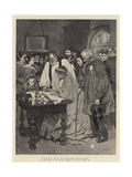 Signing the Marriage-Register Giclee Print by James Charles