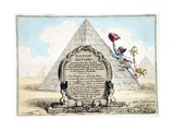 Egyptian Sketches, Published Hannah Humphrey in 1799 Giclée-Druck von James Gillray