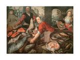 The Fish Market Gicléedruk van Joachim Bueckelaer