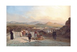 Santiago De Chile from the Hill of Santa Lucia Looking to the West, 1841 Giclee Print by Johann Moritz Rugendas