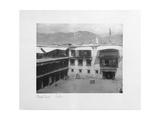 Courtyard, Lalhu, Tibet, 1903-04 Giclee Print by John Claude White