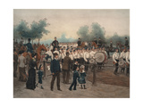 Scots Guards Drilling in Rotten Row, 1880 Giclee Print by Jean-Baptiste Edouard Detaille