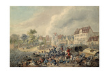 Pursuit of the French Through Leipzig, 1813 Giclee Print by John Augustus Atkinson