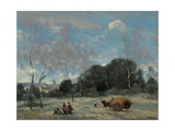 La Rentree Des Foins a Marcoussis, 1870-74 Giclee Print by Jean Baptiste Camille Corot
