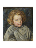 Portrait of Laura Theresa Epps (Lady Alma-Tadema) as a Child, 1860 Giclee Print by John Brett