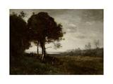 Paisaje  Lámina giclée por Jean Baptiste Camille Corot