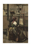 The Artist's Studio, C.1868 Giclee Print by Jean Baptiste Camille Corot