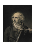Portrait of Hubert Robert, C. 1798-1799 Giclee Print by Jean-Baptiste Isabey